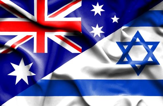 Israel-Australia flag